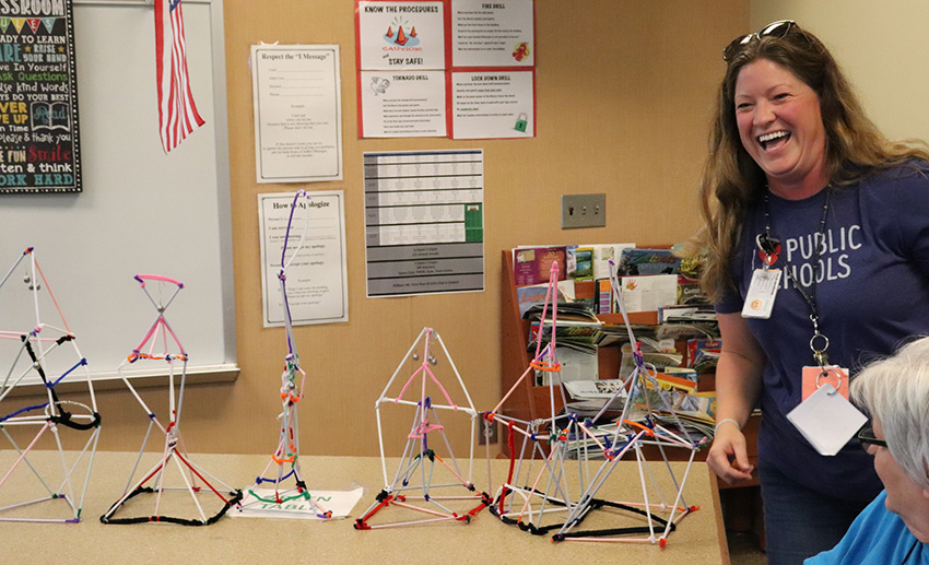 Mount View teacher Erin Pusch and finished brains