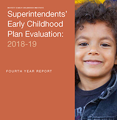 News Release on 2018-19 Superintendents' Early Childhood Plan Evaluation